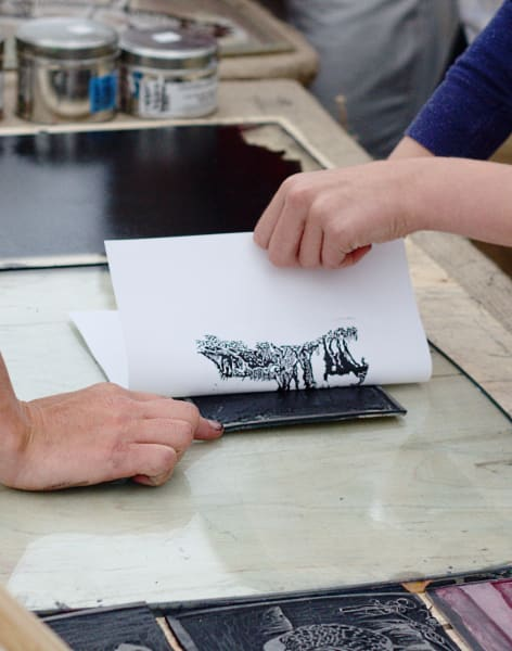 Lino Printing Workshop by Token Studio - art in London