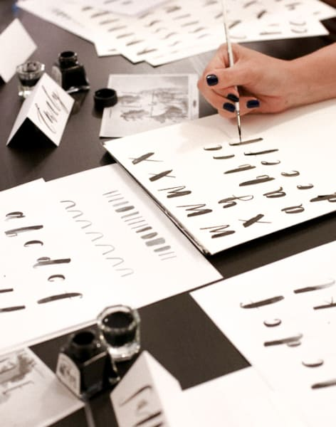 Brush Lettering Class for the New & Curious by Alice Gabb - art in London
