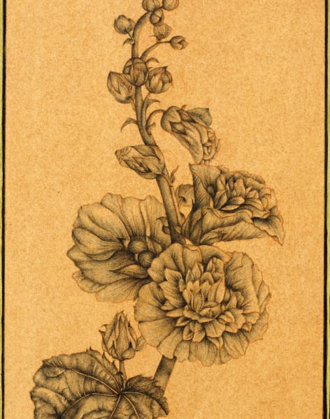 Botanical Indian Miniature Painting by The Prince's Foundation School of Traditional Arts - art in London