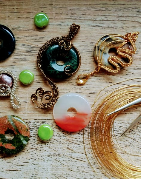 Make a vintage inspired pendant by Explore Art - crafts in London