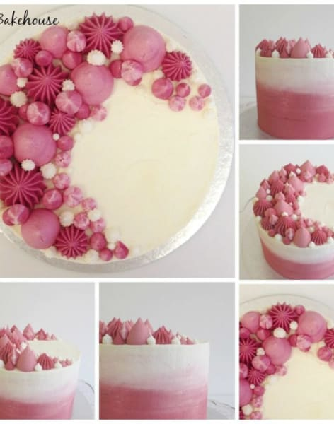 Ombre Sharp Edge Buttercream Cake Class by Rock Bakehouse - food in London