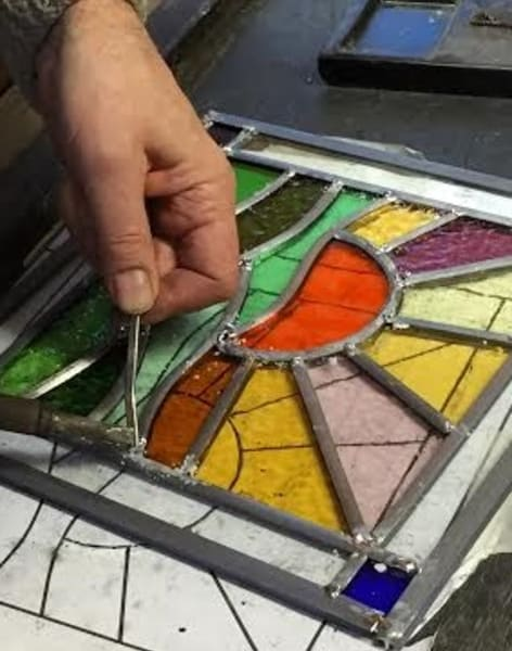 Stained Glass One Day Class (Leaded Method) by Cheryl Powling Stained Glass Studio - art in London