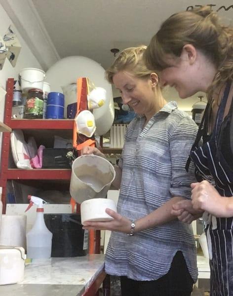 Clay Slip Casting Workshop by Camilla Webb Carter - art in London