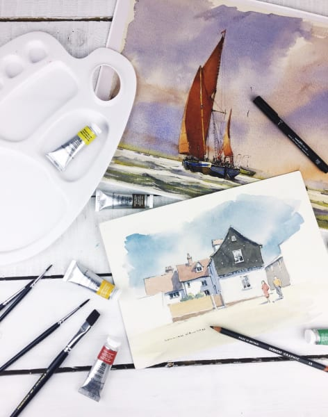William Newton Watercolour Art Lessons by Crafty Arts - art in London