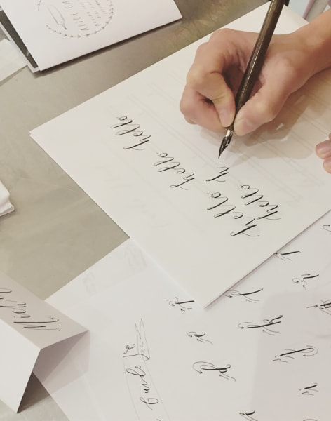 Modern Calligraphy for the New and Curious by Pearl and Groove - art in London