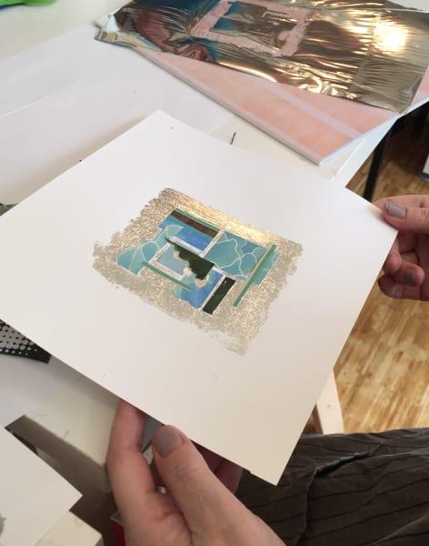 Create pictures with metallic foils by Gabriela Szulman Art - art in London