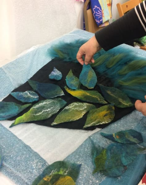 Introduction to Wet-Felting by Strawberry Hill Hats - crafts in London