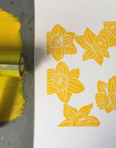 Spring Botanicals Linocut Workshop Private Booking by Kaylene Alder - art in London