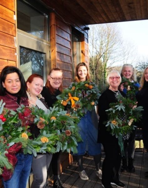Learn to make a Christmas Wreath by Just So Flowers - crafts in London