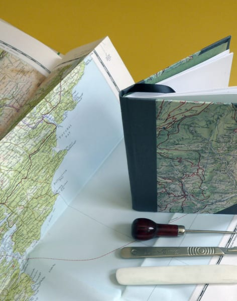 Bookbinding with Maps! by Amber Cooper Davies - crafts in London