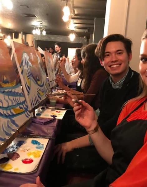 Paint like Hokusai! by PopUp Painting - art in London