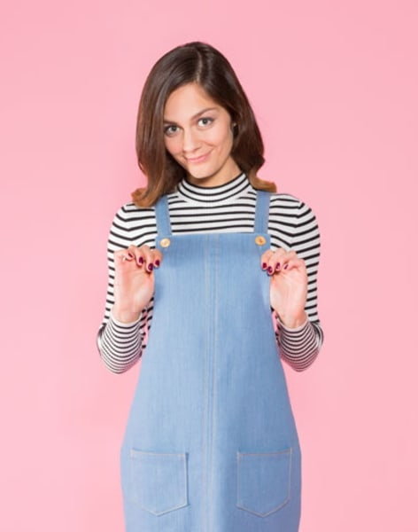 Make a Cleo Dungaree Dress by Suzie London - crafts in London