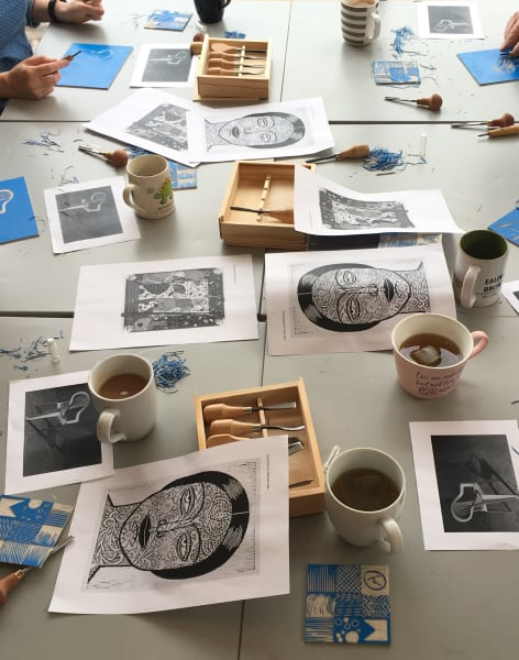 Introduction to Lino Printing by Debbie Chessell - art in London