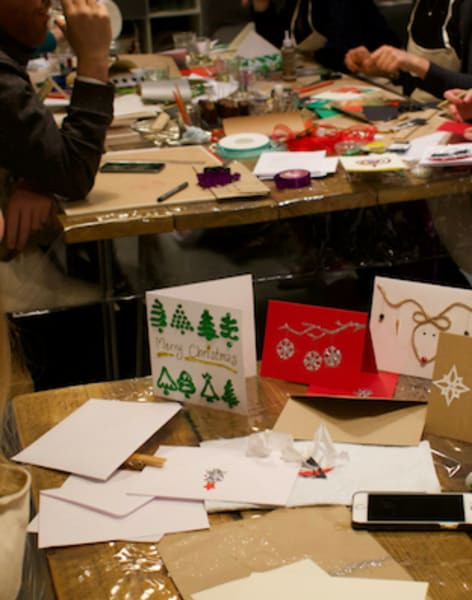 Christmas Card Making with Festive Treats & BYOB by Social Studio London - art in London
