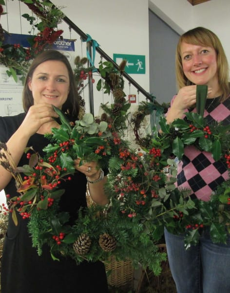 Christmas 'Wild Wreath' Workshop by Fabrications - crafts in London