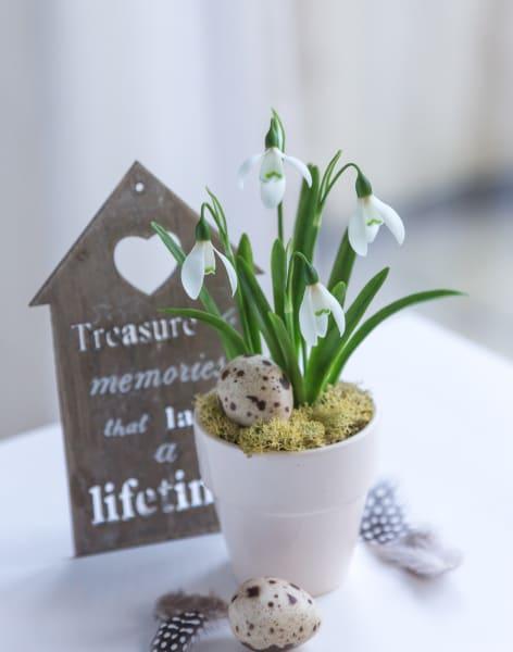 Clay Easter arrangment by Polymer flowers by Tatiana Godunova - art in London