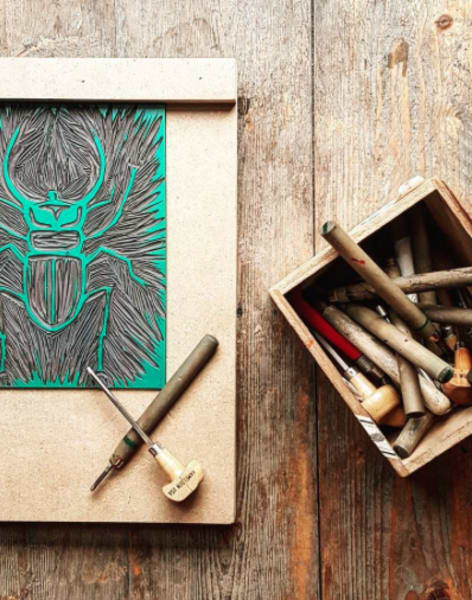 Introduction to Printmaking Workshop by Lavender Print School - art in London