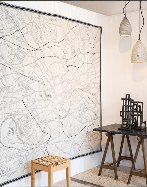 Make a Hand Embroidered Map of London by Ekta Kaul - crafts in London
