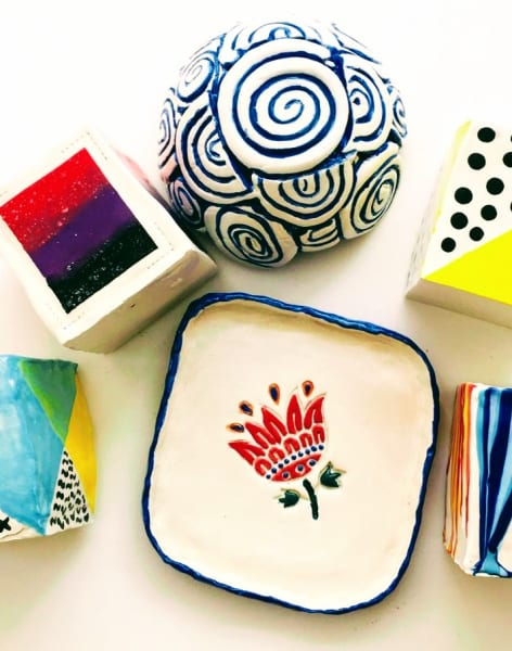 Make Your Own Handmade Pottery - Slab and Coil pots and plates by M.Y.O (Make Your Own) - art in London