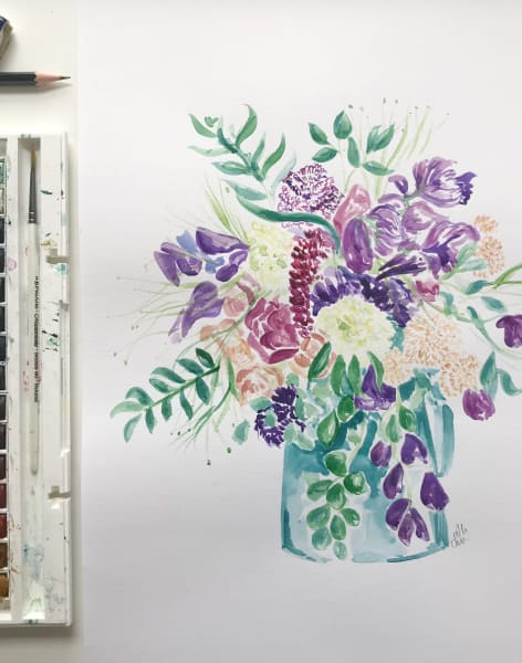 Make Your Own Watercolour Flowers Painting by M.Y.O (Make Your Own) - art in London