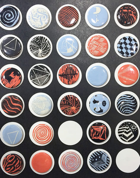 Learn to Make Badges with Relief Printing by M.Y.O (Make Your Own) - crafts in London