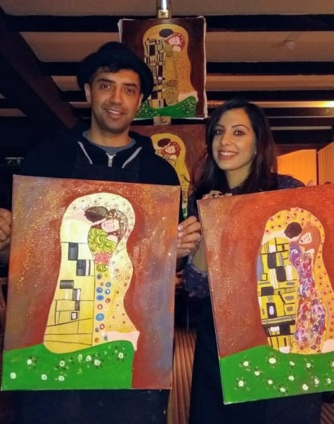 Paint like Klimt! by PopUp Painting - art in London