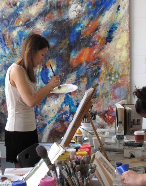 Art Class in an Artist's Working Studio by London Art Classes - art in London