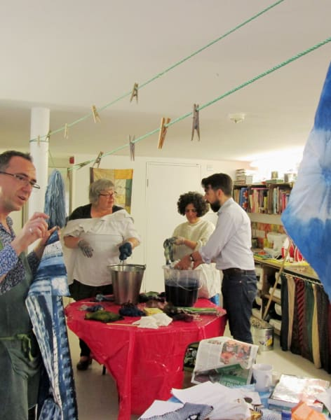 Beginners Shibori ( Itajime ) with Rob Jones by Fabrications - crafts in London