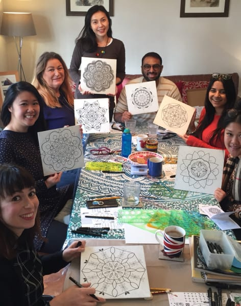 Mandala Drawing & Painting Class by UbieDesign - art in London