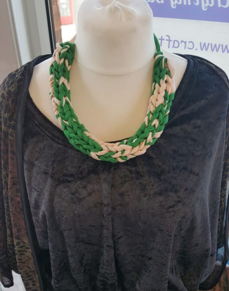 Chunky Knitted Necklace Workshop by Craft My Day - crafts in London