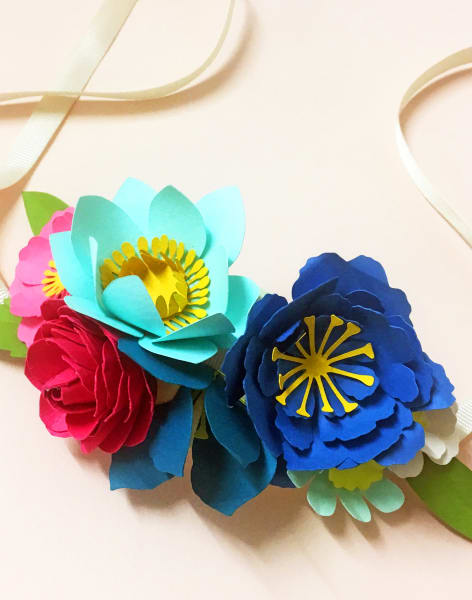 Paper Flower Crown Workshop by May Contain Glitter - crafts in London