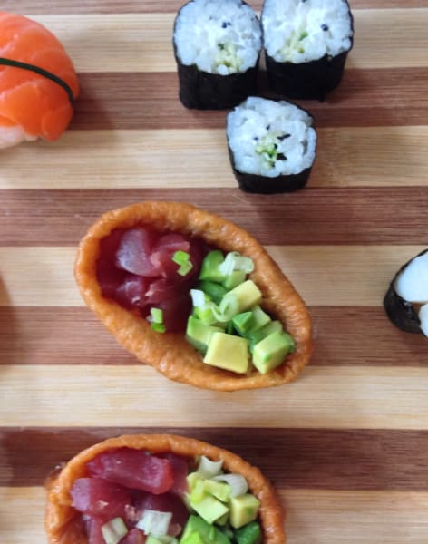 Sushi Canape and Cocktails! by Alice Sushi Art - food in London