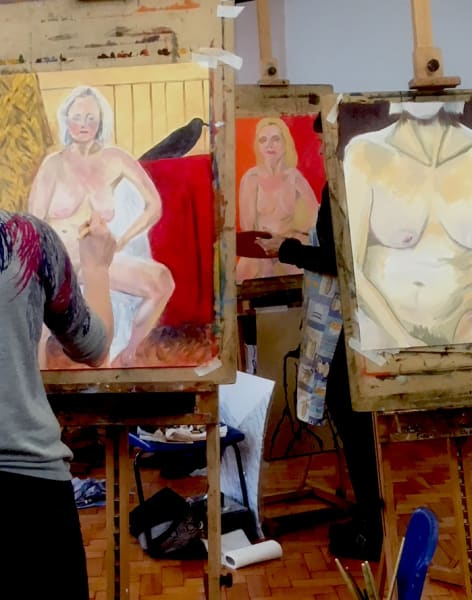 Life Painting - One Pose for a 3 hour Session. by Richmond School of Painting - art in London