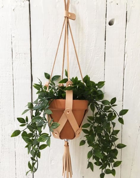 Leather Plant Hanger Workshop by Rosanna Clare - crafts in London