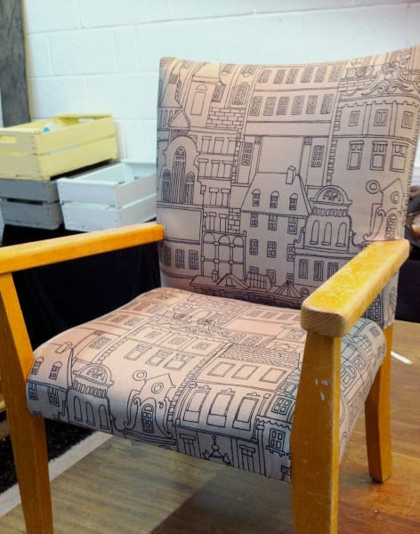 Upcycling Class: Reupholster Your Furniture by The Old School Club - crafts in London