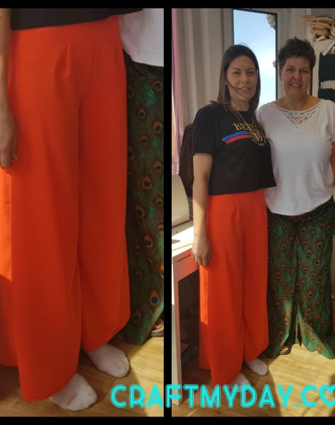 Sew Stylish Wide Leg Trousers by Craft My Day - crafts in London