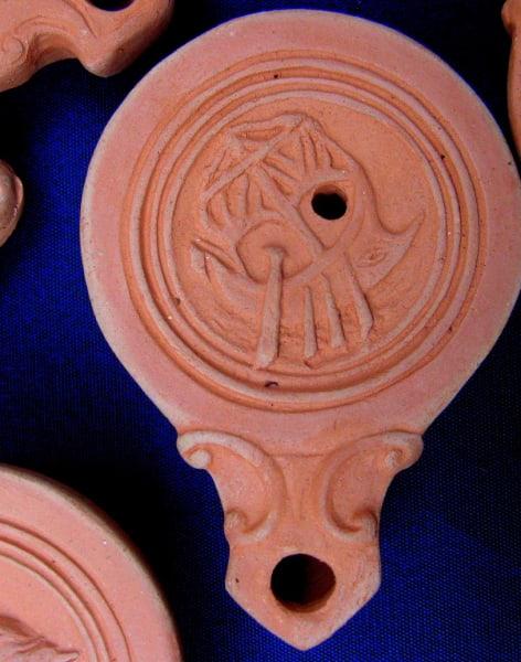 Make a Ceramic Roman Oil Lamp by An Exaltation of Larks - art in London