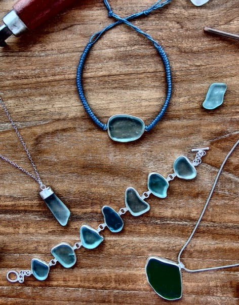 Bezel Setting Natural Sea Glass by Creative Escape Studio - crafts in London