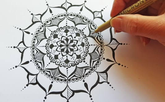 Mandala Drawing For Beginners Obby