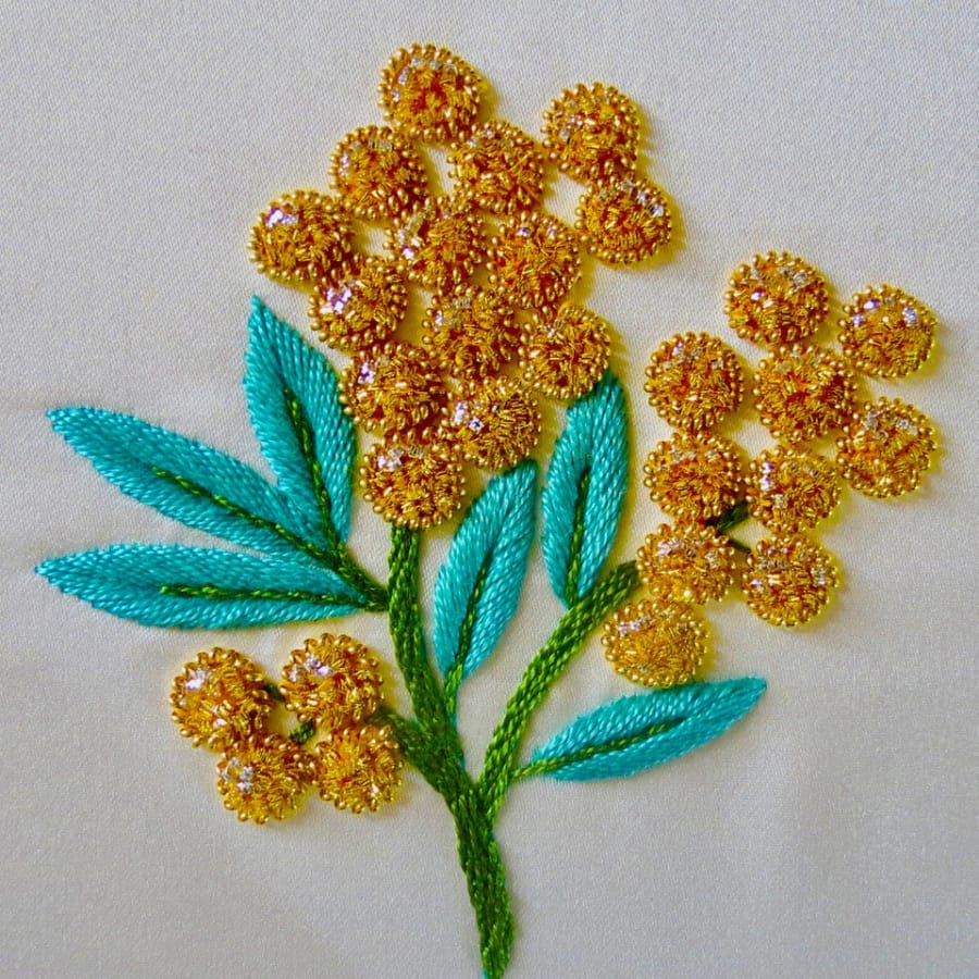 "Goldwork Embroidery ""Mimosa"" with Bella Lane by Fabrications - crafts in London"