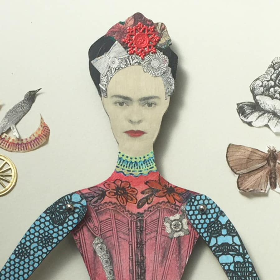 Make Your Own Art Doll Inspired by Frida Kahlo by Gabriela Szulman Art - art in London