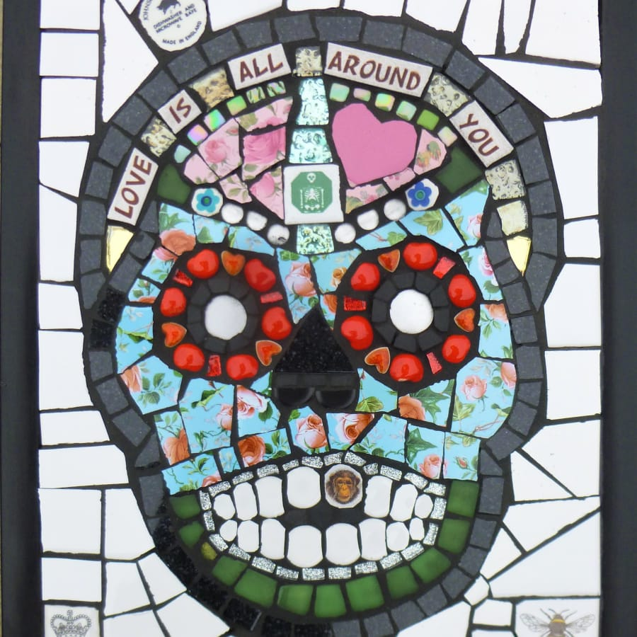 Mosaic candy skull Workshop - Day of The Dead! by Art4Space - art in London