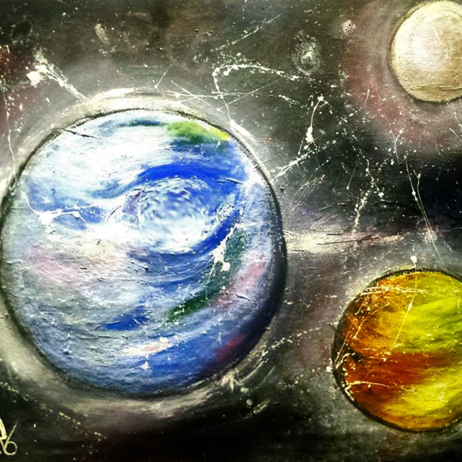 Paint the Planets! by PopUp Painting - art in London