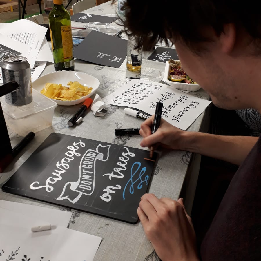 Chalkboard Lettering for Beginners by M.Y.O (Make Your Own) - art in London