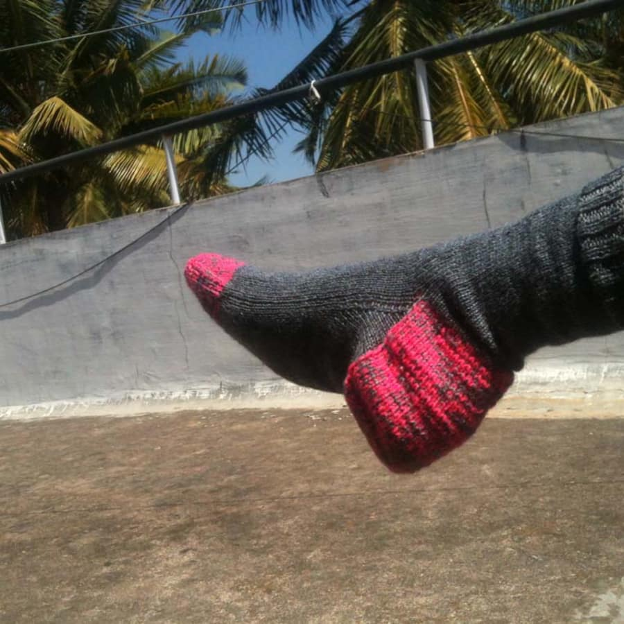 Learn to knit socks on 2 Needles with Jill Bulgan by Fabrications - crafts in London