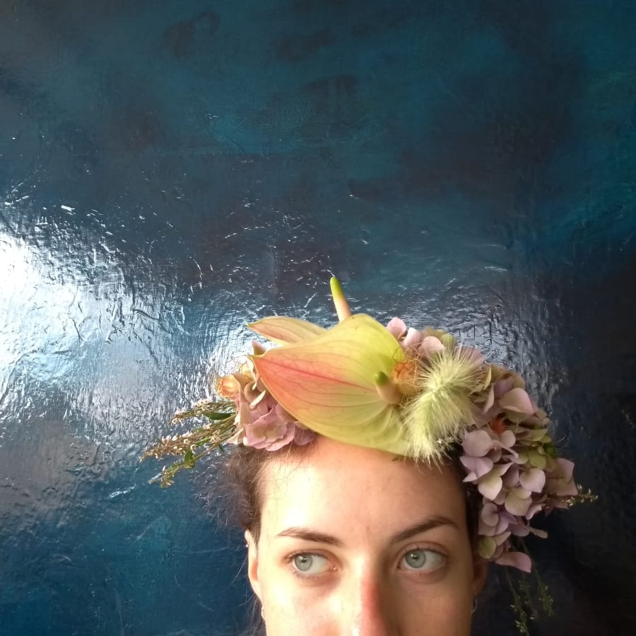 Bespoke Floral Crown Workshop with Complementary Drink by Lucy C Burton Flowers - crafts in London