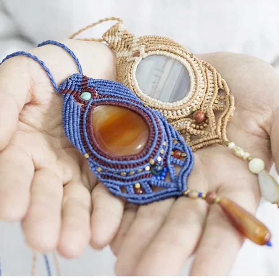 Macrame Jewellery Workshop for Beginners by Token Studio - crafts in London