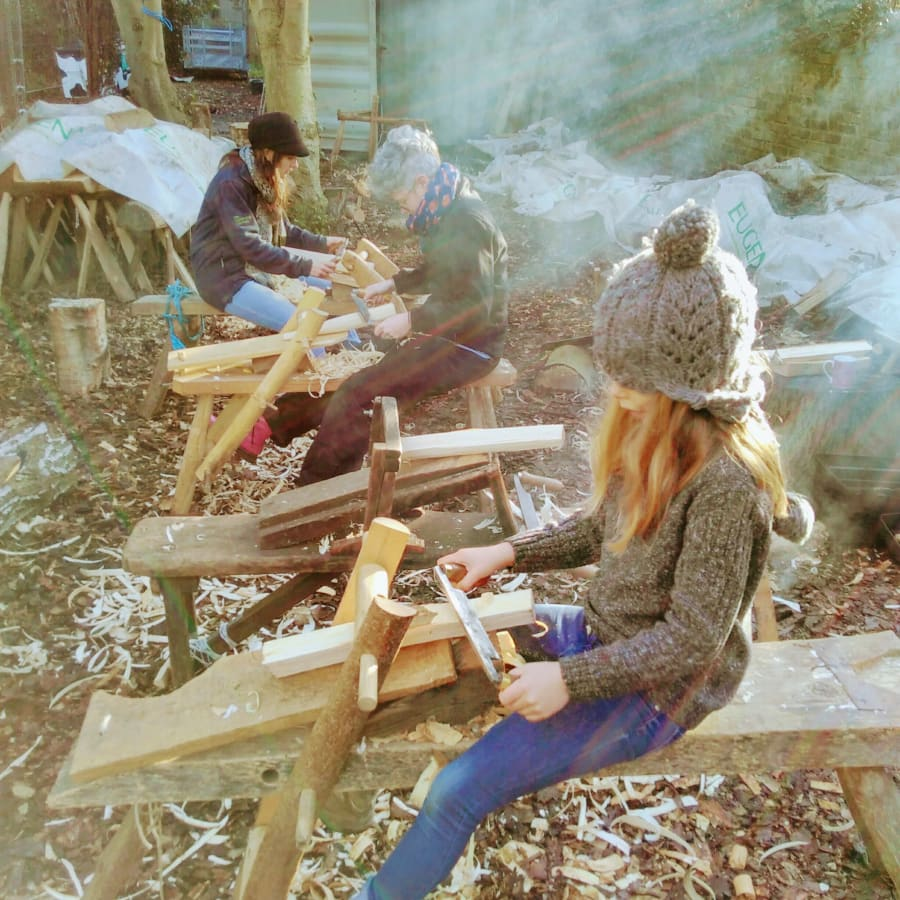 Make a Stool with the Family Workshop by London Green Wood CIC - crafts in London