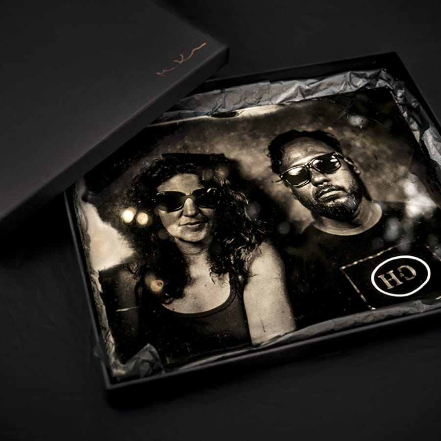 Unique Gift Portrait on glass plate-19th Century Wet Plate Collodion Technique by Magda Kuca Photography - photography in London