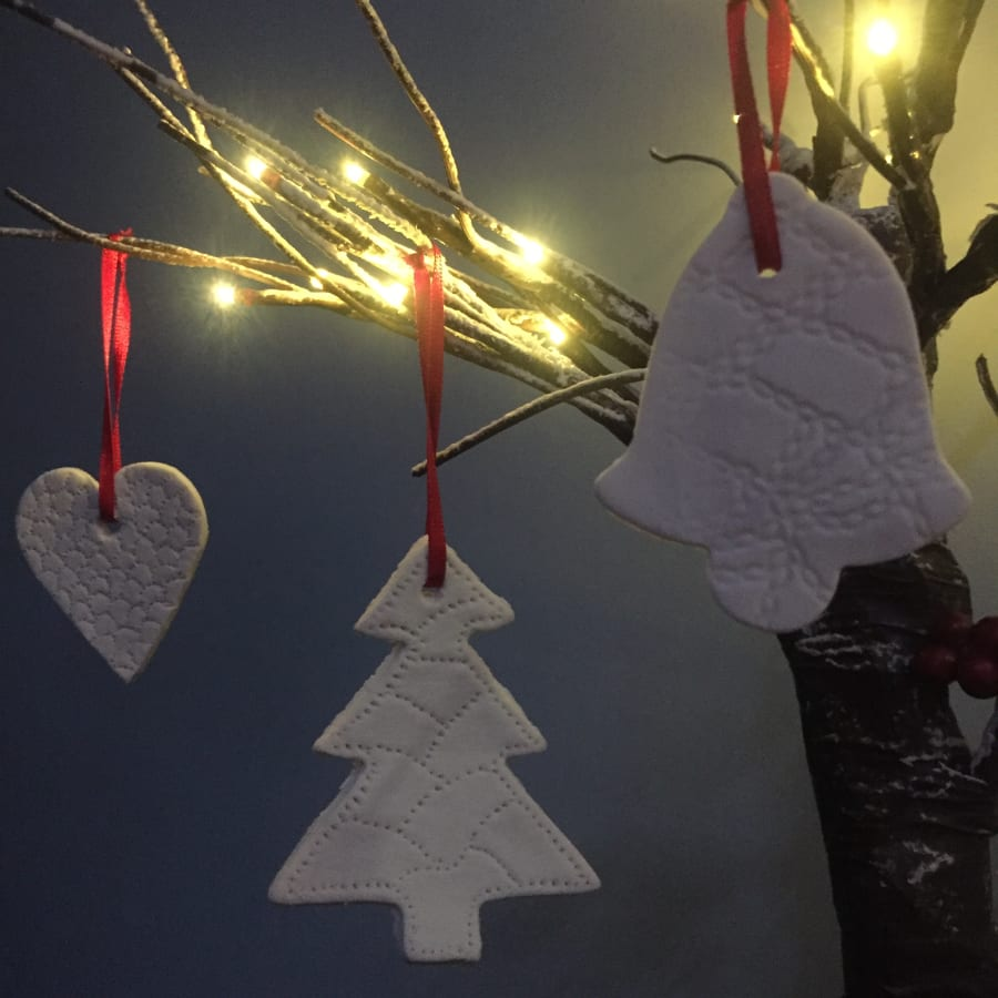 Make your own Porcelain Christmas decorations by Workshop 305 Community Interest Company - art in London